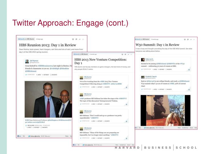 Twitter Approach: Engage (cont.)