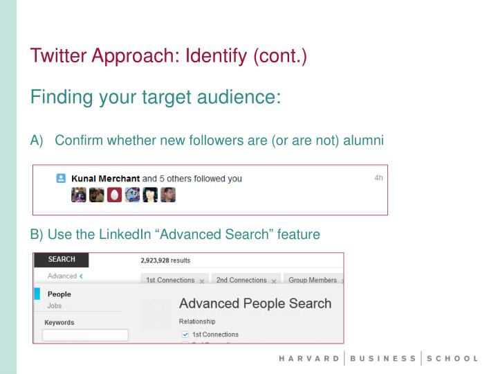 Twitter Approach: Identify (cont.)