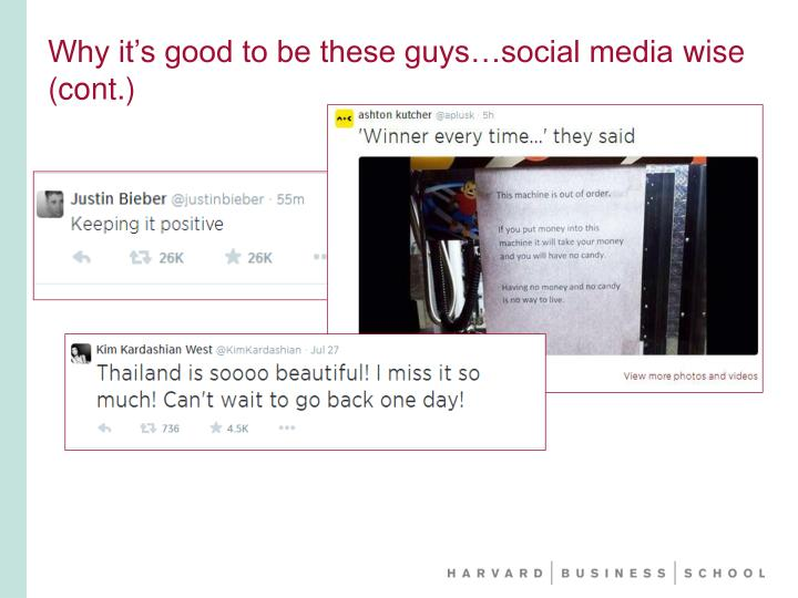 Why it's good to be these guys…social media