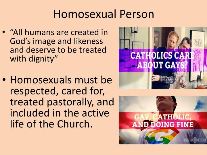 Homosexual Person