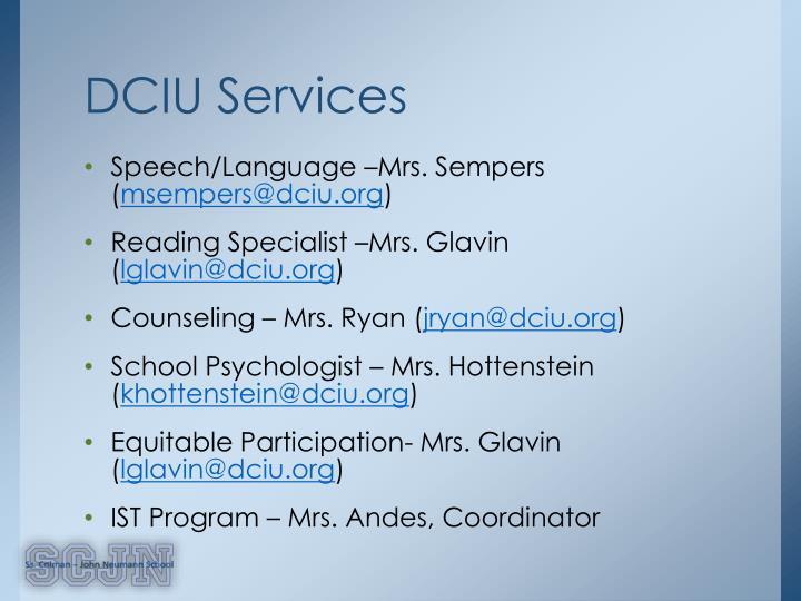 DCIU Services