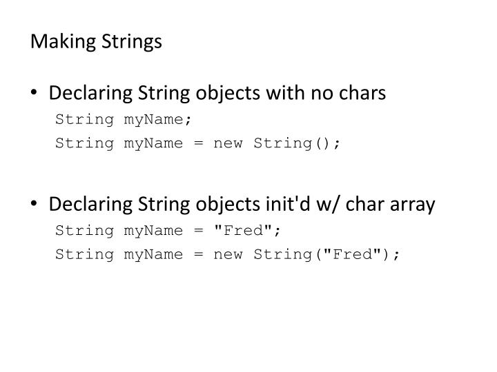 Making Strings