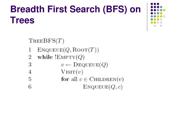 Breadth First Search (BFS) on Trees