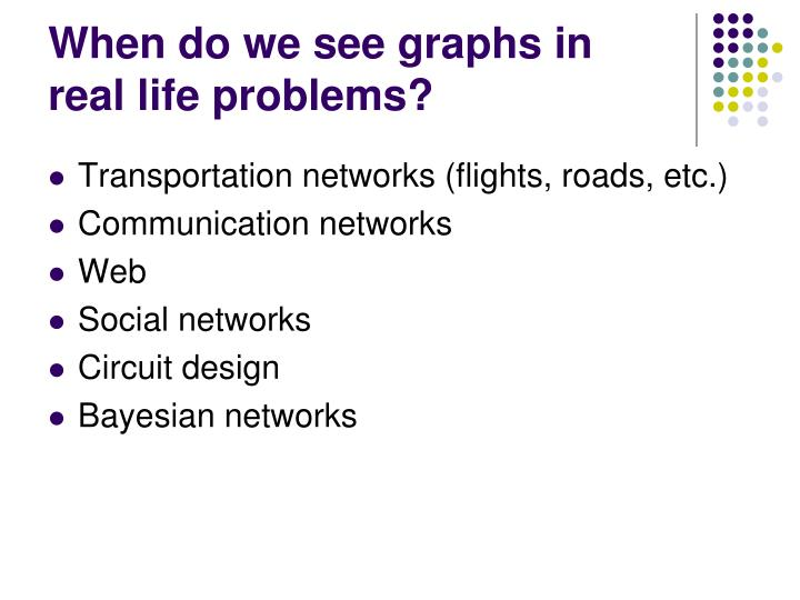 When do we see graphs in
