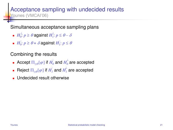 Acceptance sampling with undecided results