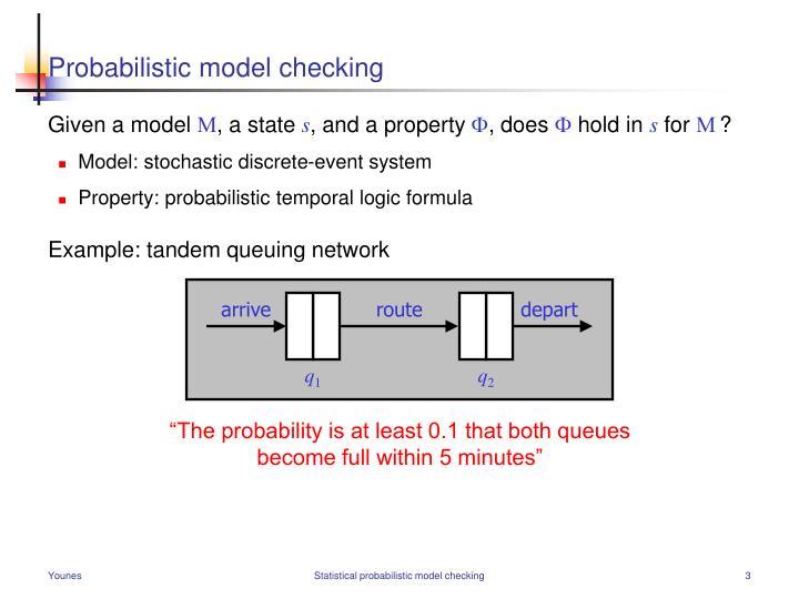 Probabilistic model checking