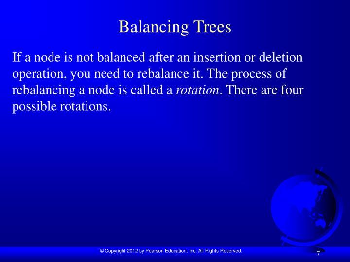 Balancing Trees