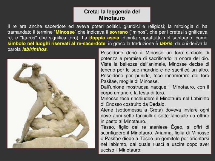 Creta: la leggenda del Minotauro