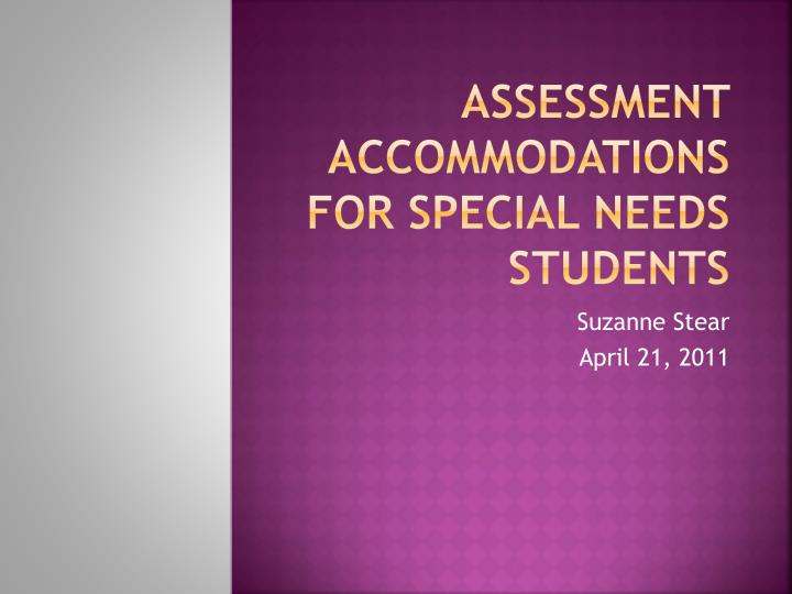 the needs of special students susan tancocks article Federation for children with special needs, horizons for homeless children, jane doe inc, massachusetts law reform institute, massachusetts society for the.