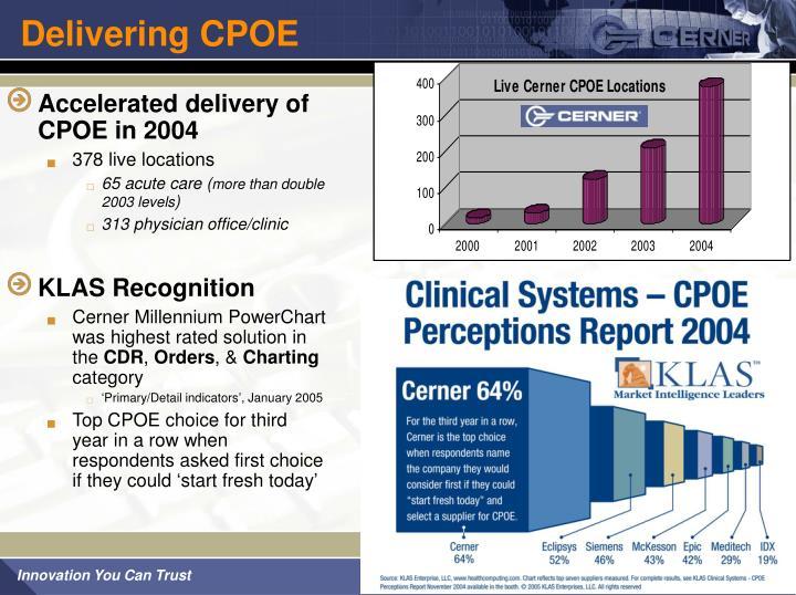 Delivering CPOE