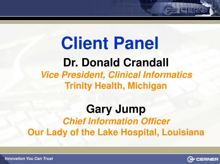 Client Panel