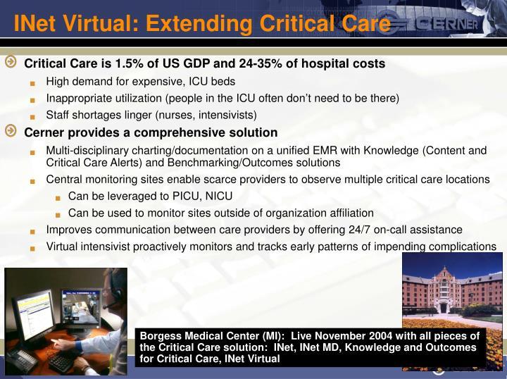 INet Virtual: Extending Critical Care