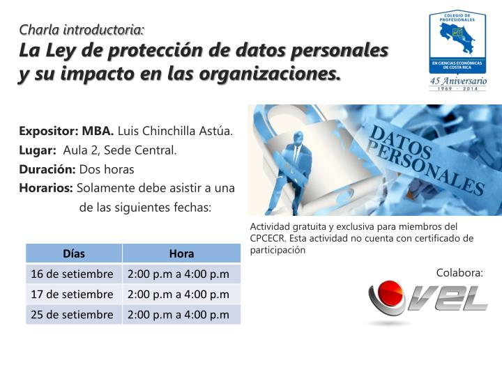 Charla introductoria: