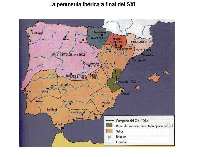 La península ibérica a final del SXI