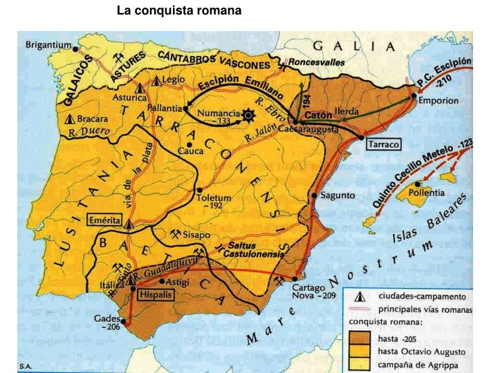 La conquista romana