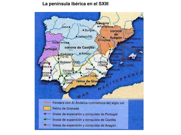 La península ibérica en el SXIII