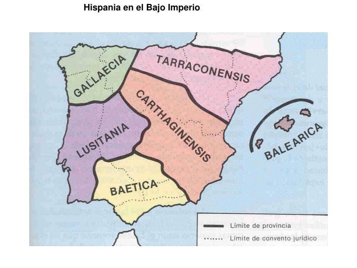Hispania en el Bajo Imperio