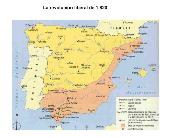 La revolución liberal de 1.820