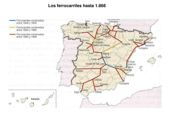 Los ferrocarriles hasta 1.868