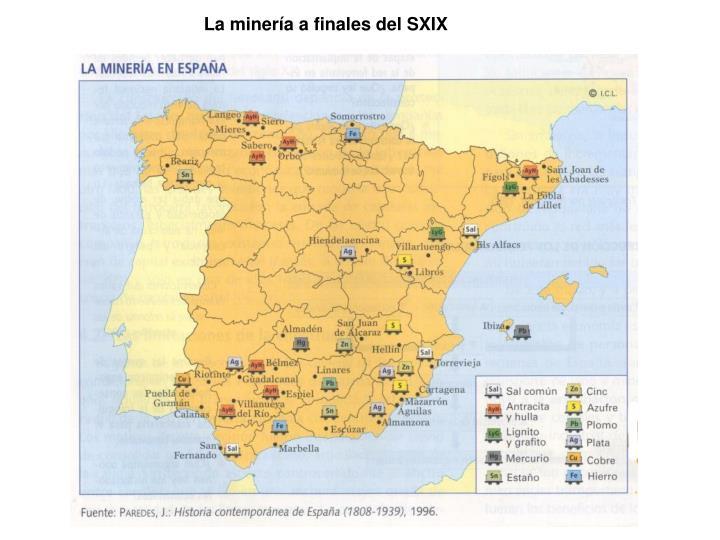 La minería a finales del SXIX