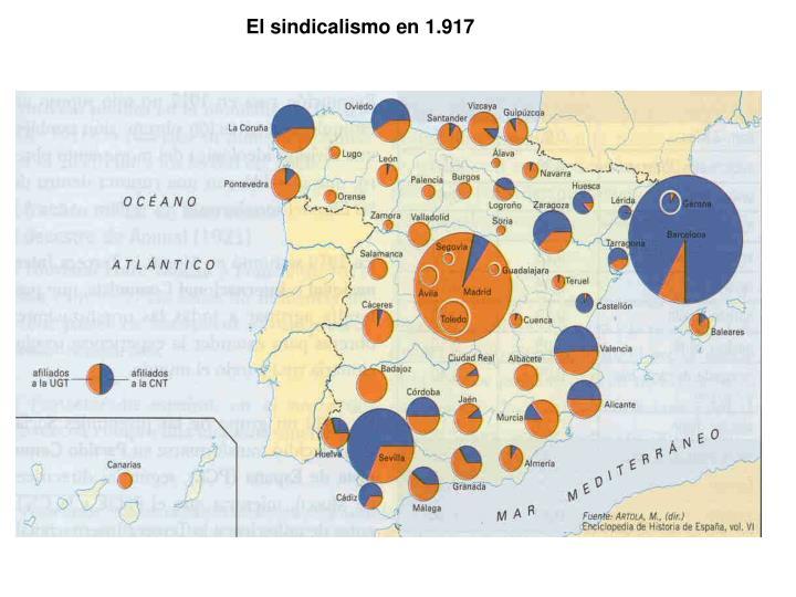 El sindicalismo en 1.917