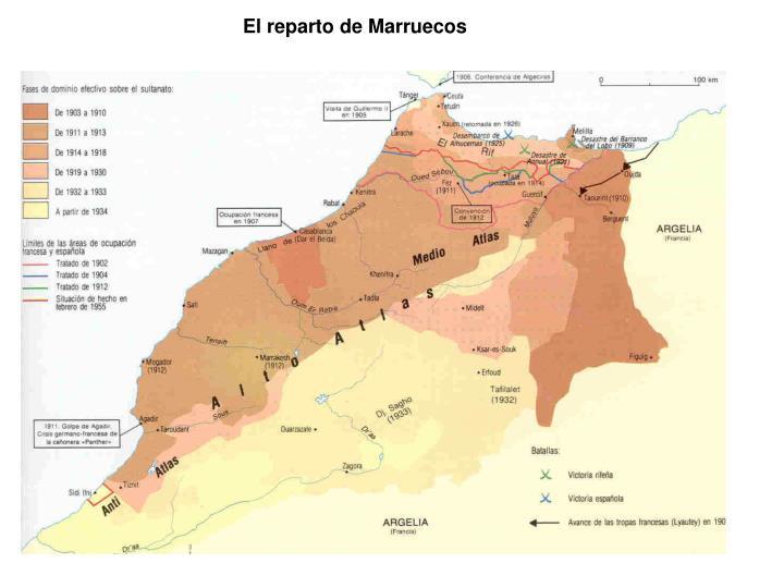 El reparto de Marruecos