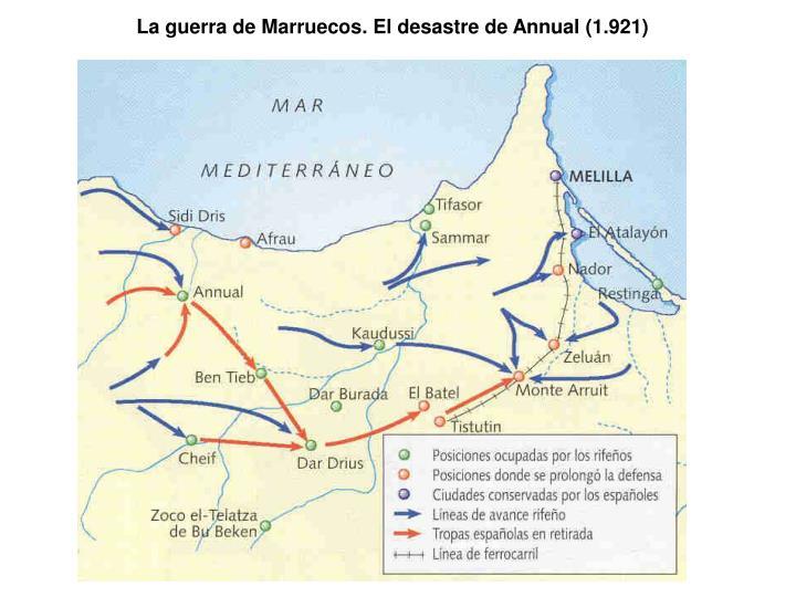 La guerra de Marruecos. El desastre de Annual (1.921)