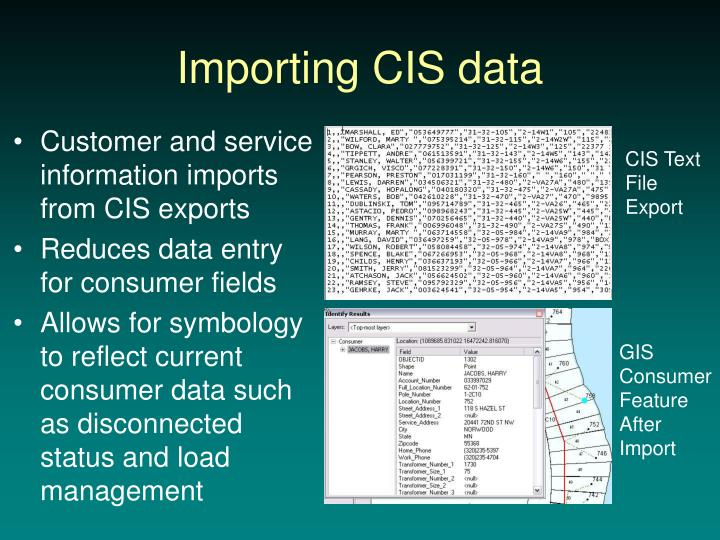 Importing CIS data