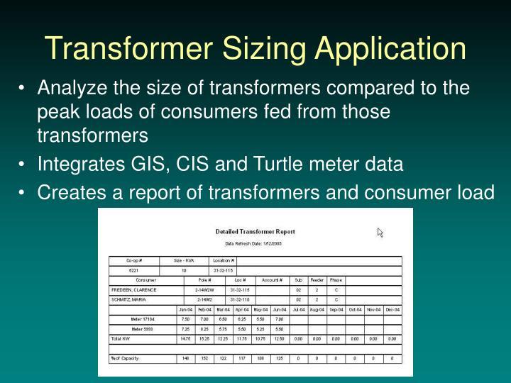 Transformer Sizing Application