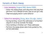 variants of mark sweep