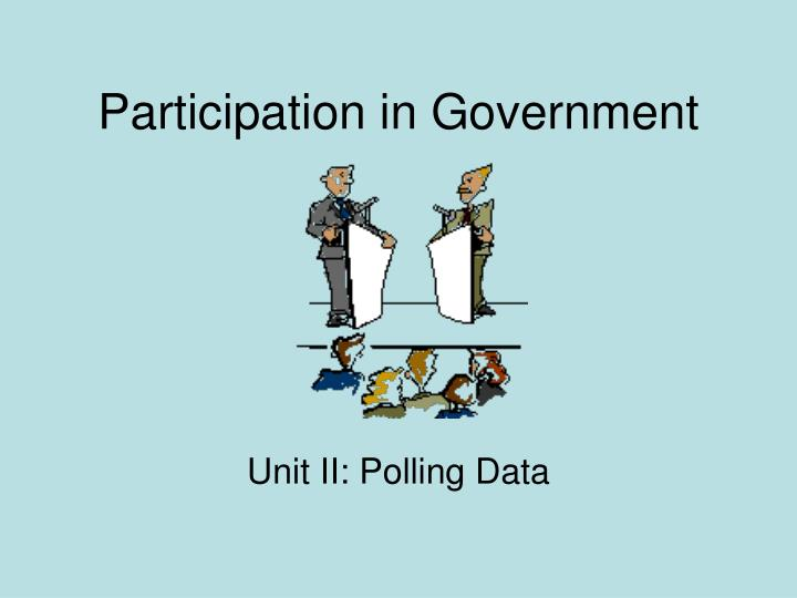 participation in government n.