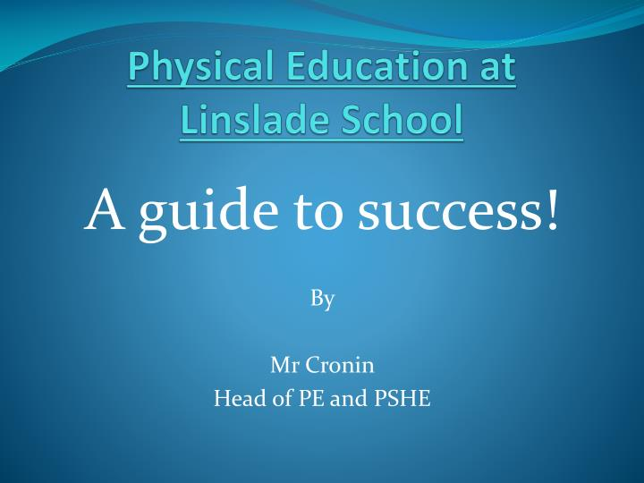 physical education at linslade school n.