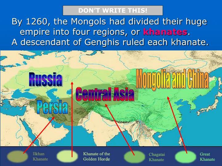 Mongolia and China