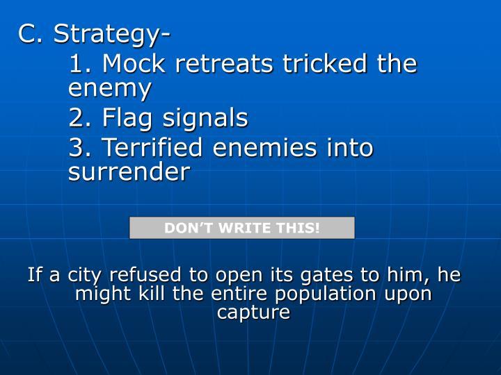 C. Strategy-