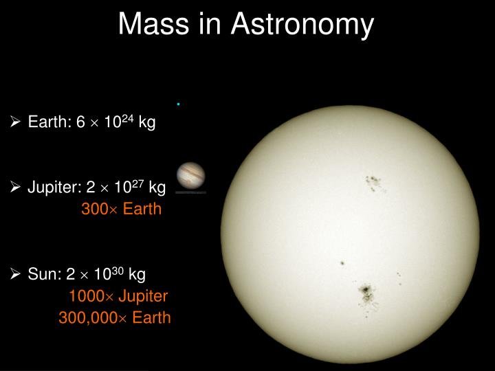 Mass in Astronomy