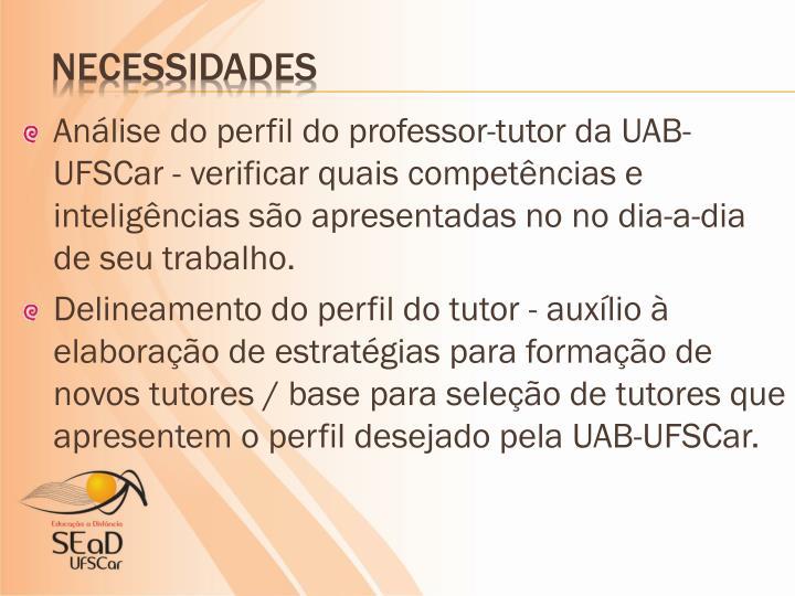 Análise do perfil do professor-tutor da