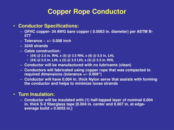Copper rope conductor