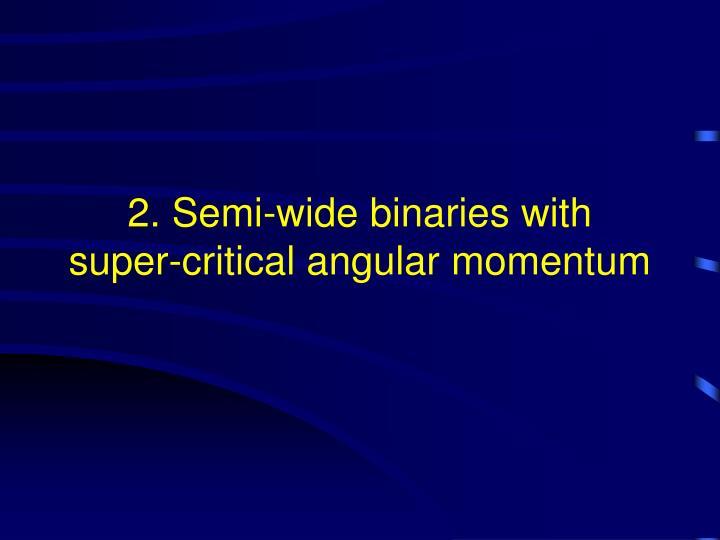 2. Semi-wide binaries with