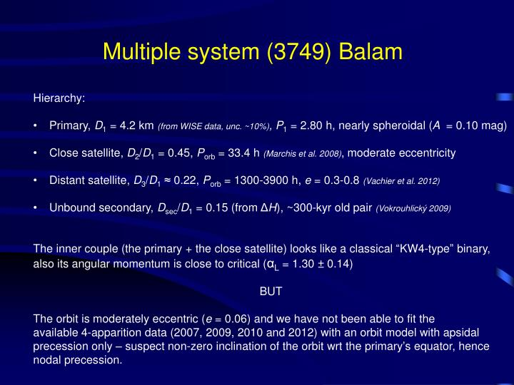 Multiple system (3749) Balam