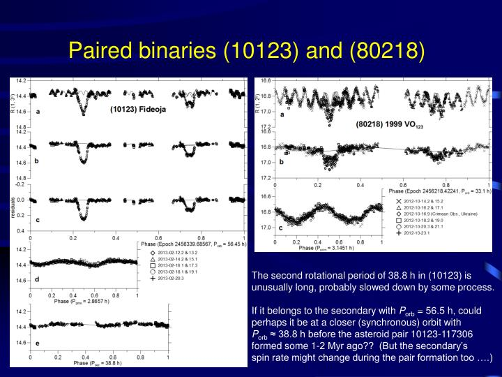 Paired binaries (10123) and (80218)