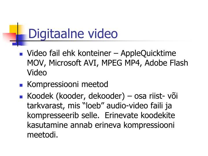 Digitaalne video