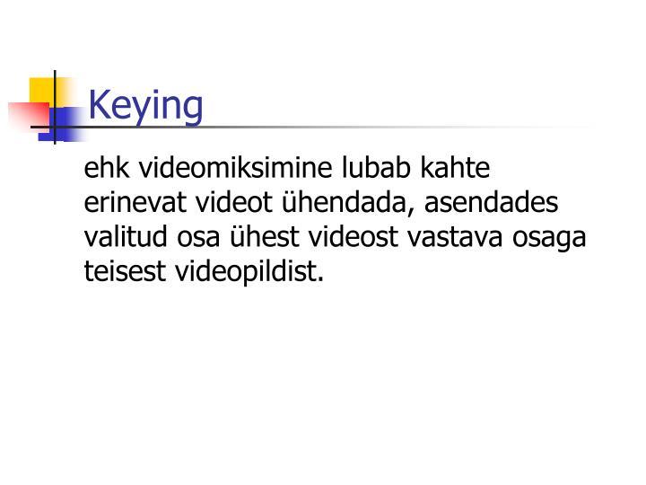 Keying