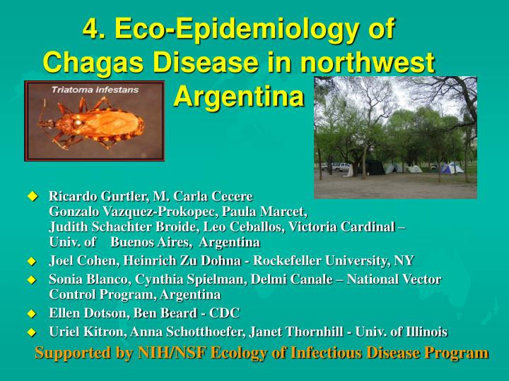 4 eco epidemiology of chagas disease in northwest argentina