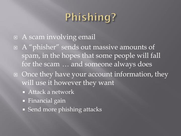 Phishing?