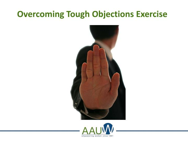 Overcoming Tough Objections Exercise
