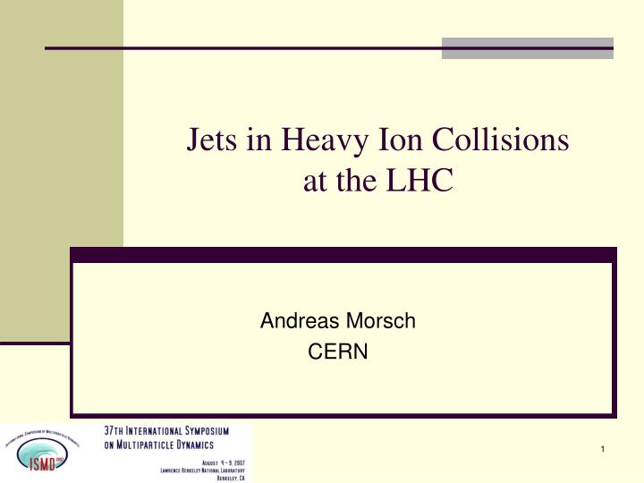 jets in heavy ion collisions at the lhc n.
