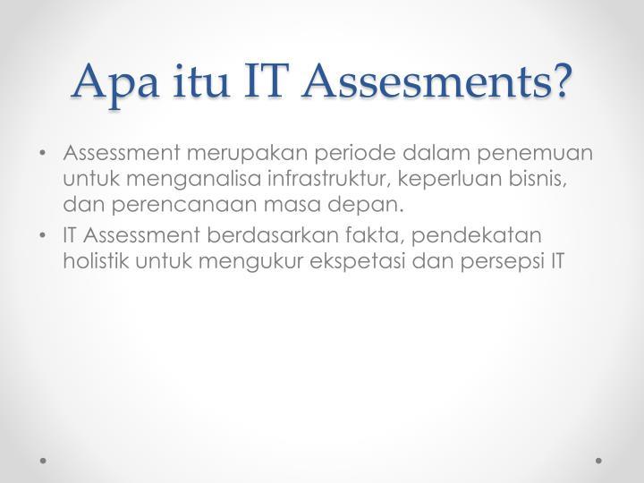 Apa itu it assesments
