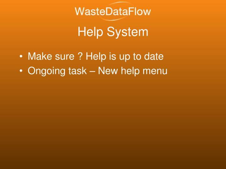 Help System