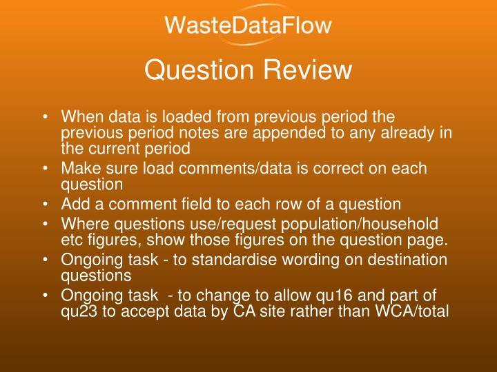Question Review