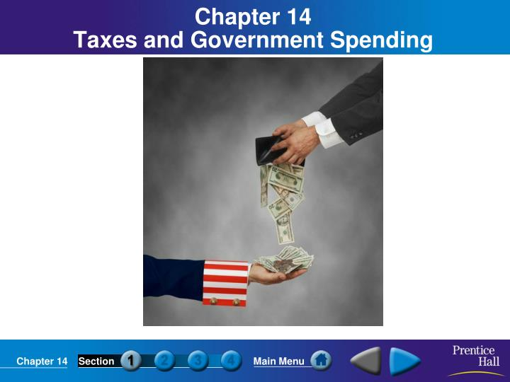 chapter 14 taxes and government spending n.